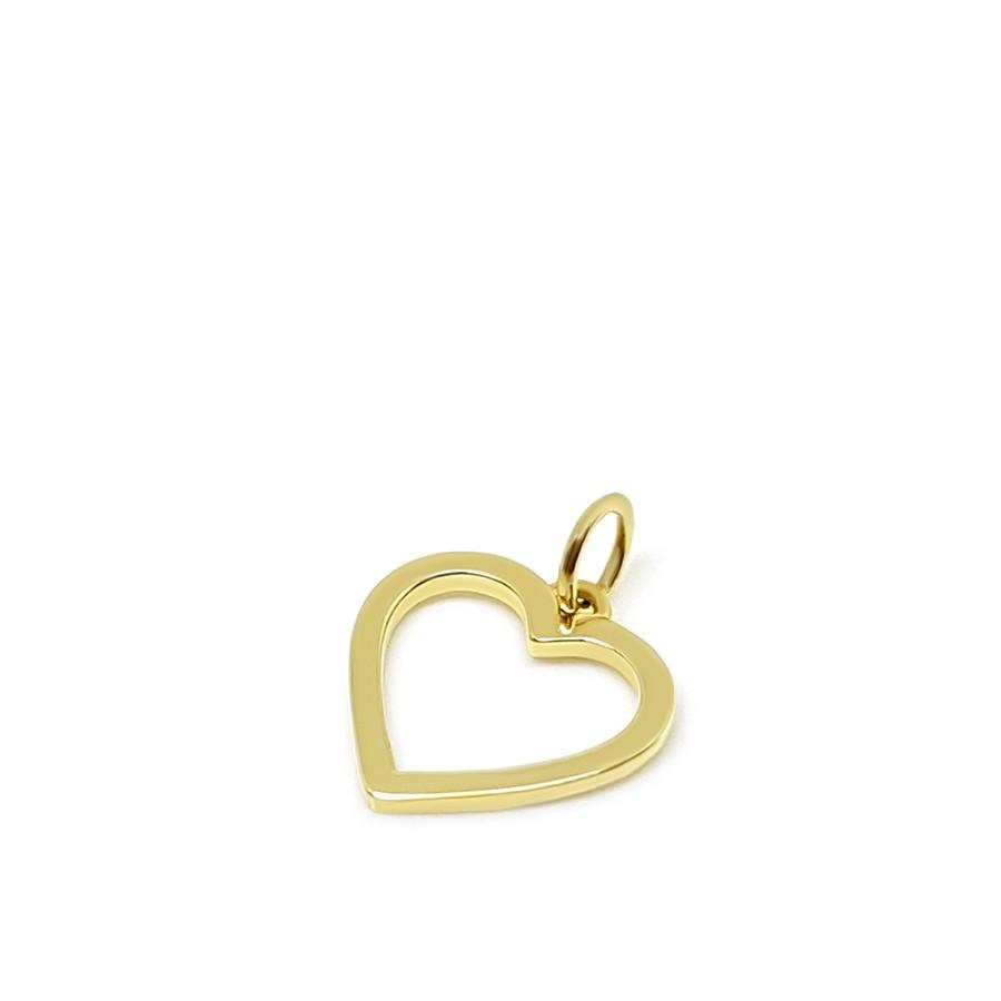 Pingente Ouro 18k Coração Vazado