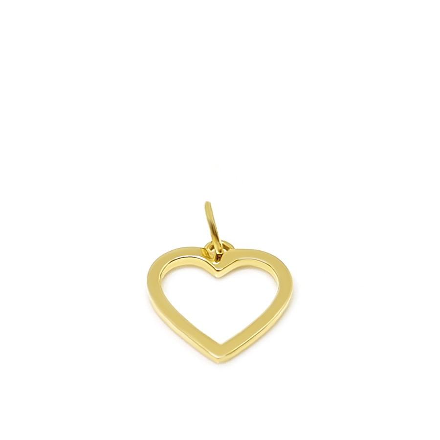 Pingente Ouro 18k Coração Vazado  - YVES