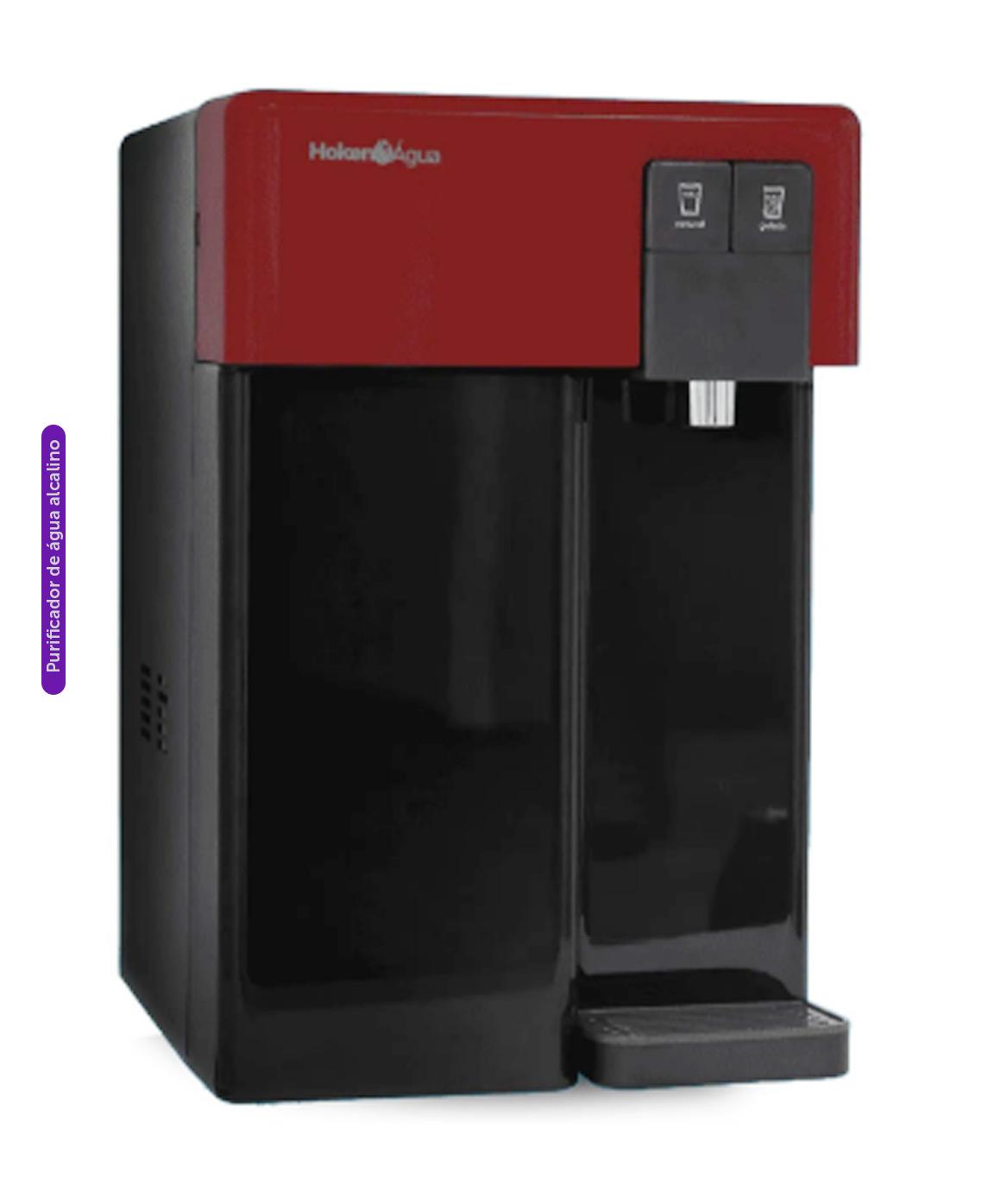 Purificador de Água CPD Alcalino Preto com Vermelho