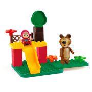 Masha e o urso Blocos de Montar  Brincando no Parque