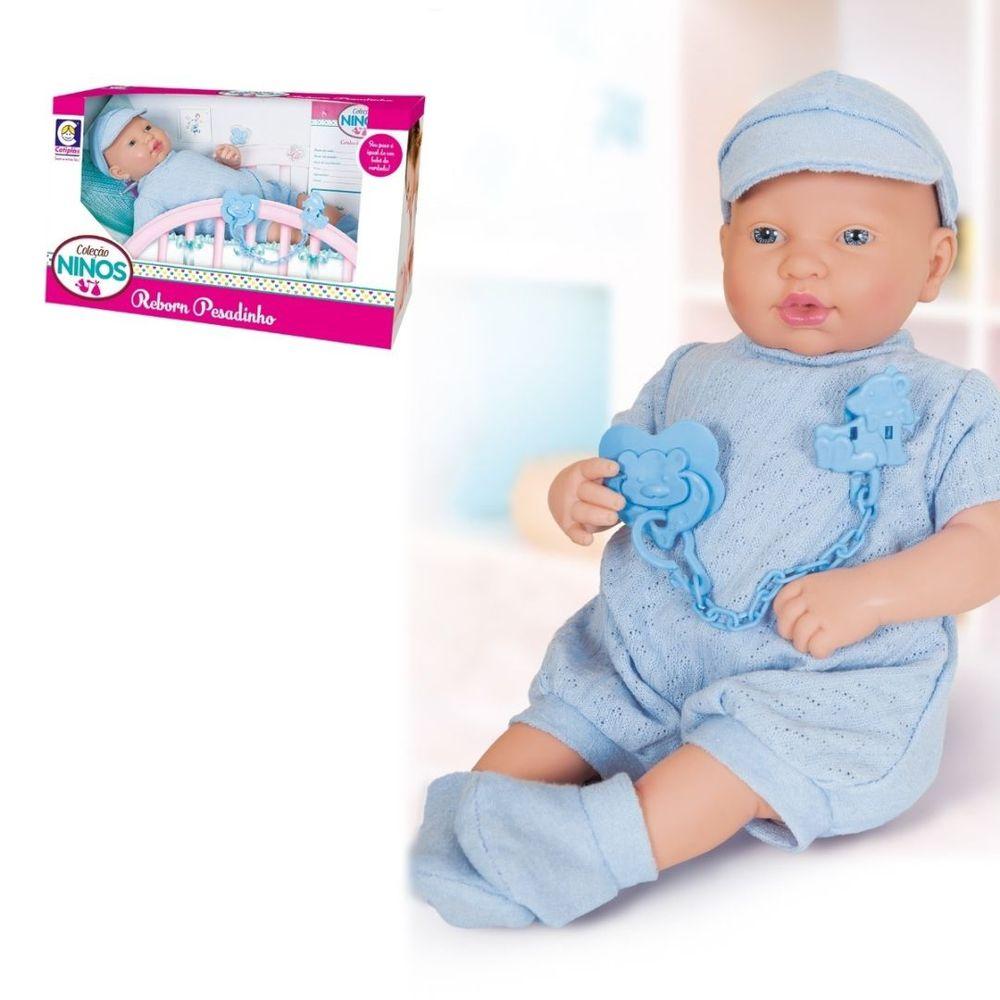 Bebê Reborn Menino Ninos Pesadinho -cotiplás-ORIGINAL