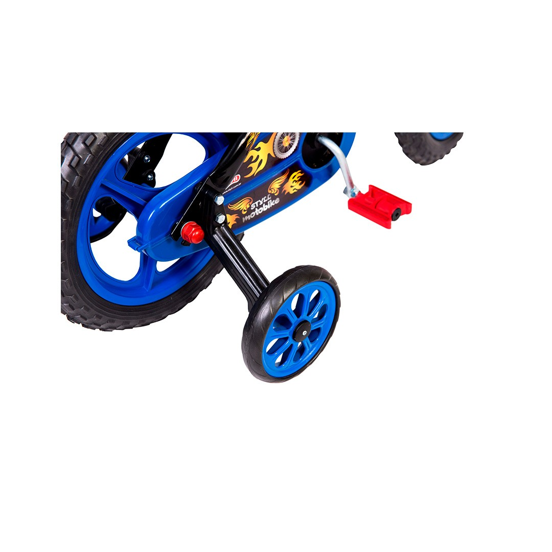 BICICLETA INFANTIL MENINOS  ARO 12 MOTO BIKE - 03 Á 05 ANOS