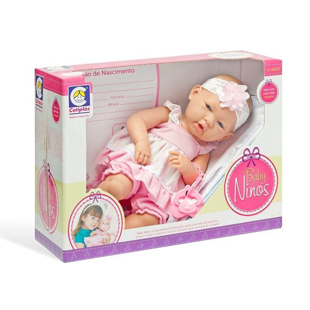 Boneca Recém Nascida Tipo Reborn vem Acessórios