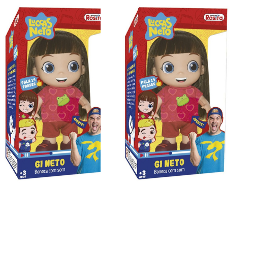 Kit 2 Bonecas Da Gi Aventureira -27Cm- Rosita