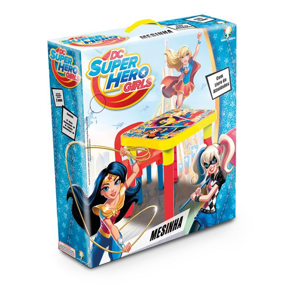MESINHA C/CADEIRA SUPER HERO GIRLS
