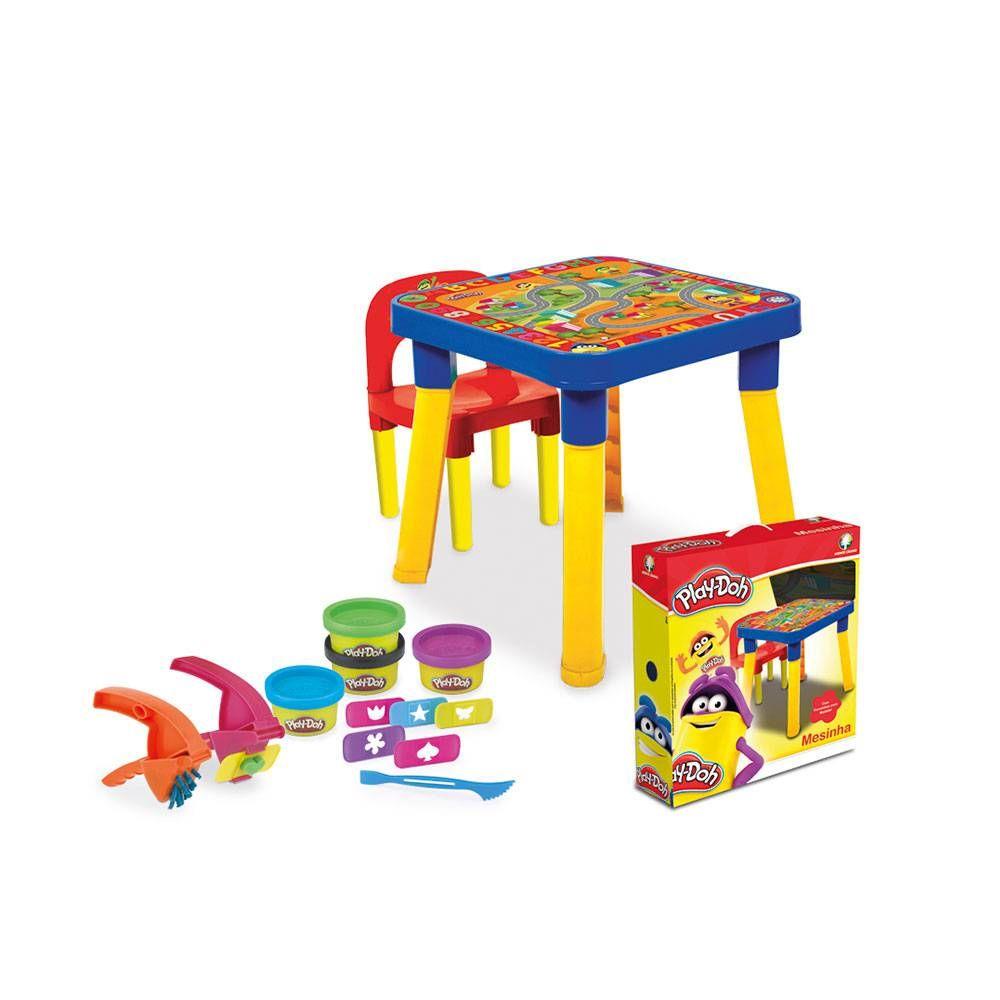 Mesinha infantil c/cadeirinha Educativa c/Acessorios playdoh