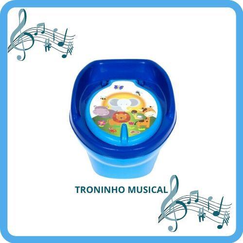 PENICO MUSICAL INFANTIL(2EM) PENIQUINHO BEBÊ PINICO -AZUL