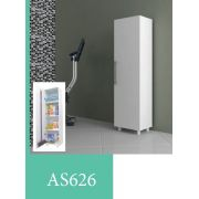 "AS 626 Armario para lavanderia ""UV"" com porta-Branco"