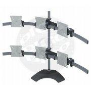 """LCD MULTI FLEX 4 M Suporte de mesa com Inclinação e Ajuste de Altura para 4 Monitores LCD/LED de 10"""""""