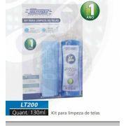 LT 200 Kit para Limpeza de Telas em geral. Acompanha Tecido em Microfibra.