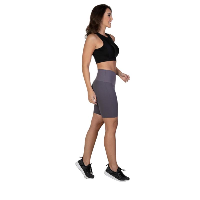7004 Short modelador em Lycra® Power com abdômen emborrachado tecido Flex Form 3D.