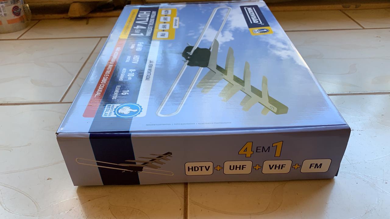 Antena Externa ATN 41E HD-HD UHF DIGITAL com 34 elementos