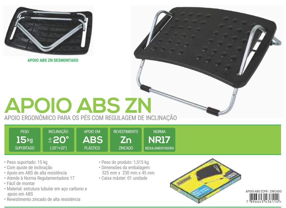 APOIO ABS cromado Apoio para os Pés com Regulagem - Material: ABS - cromado