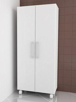 """AS 600 Armário """"UV""""c/2 portas Rodizios p/Área de Serviço-Branco"""