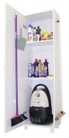 "AS 636 BRA Armario para lavanderia ""UV"" com porta-Branco"