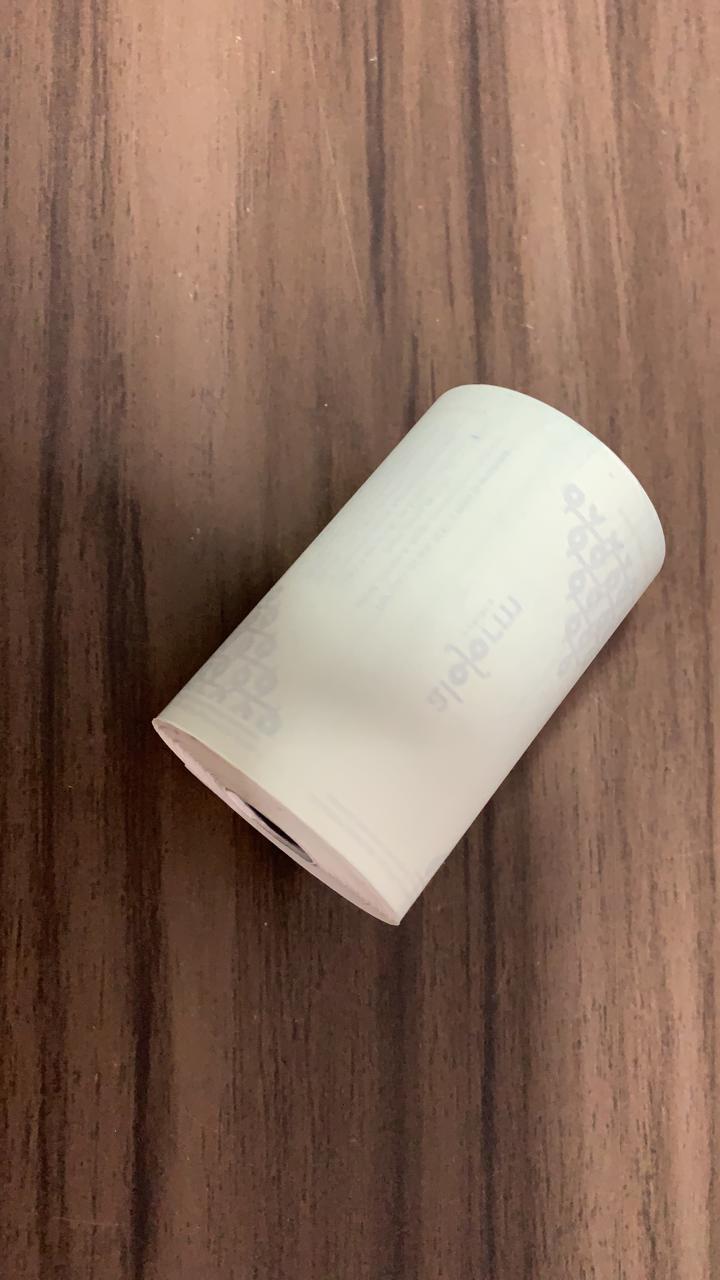 Bobina de papel térmico largura 80 cms