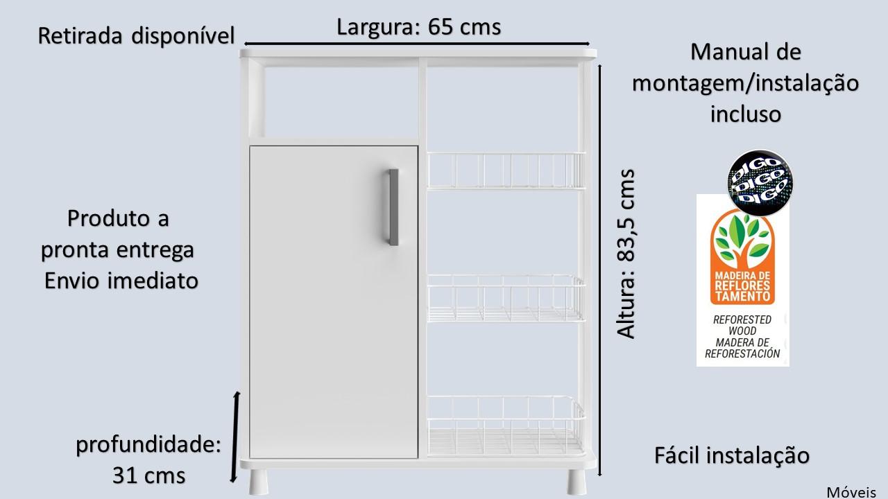 COPA Movel multiuso com portas e fruteira