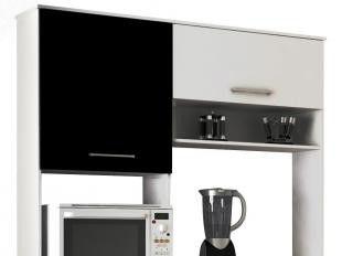 COZINHA BEATRIZ BRA Kit-Cozinha C/Porta Basculante em MDP 15mm Pés Cromados, Corrediças Metálica - B