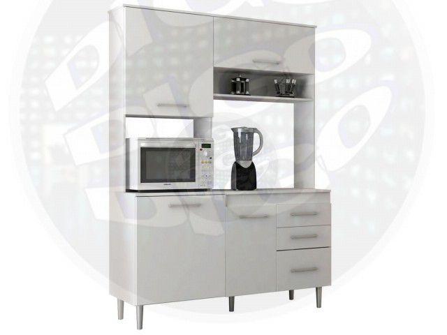 COZINHA-BEATRIZ-BRPR Kit-Cozinha C/Porta Basculante em MDP 15mm Pés Cromados, Corrediças Metálica -
