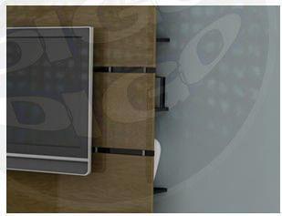 """DECOR Painel Decorativo """"UV""""para TV de 40 """"até 52"""" c/ sup. De TV/LCD/PLASMA/LED UNIVERSAL in"""