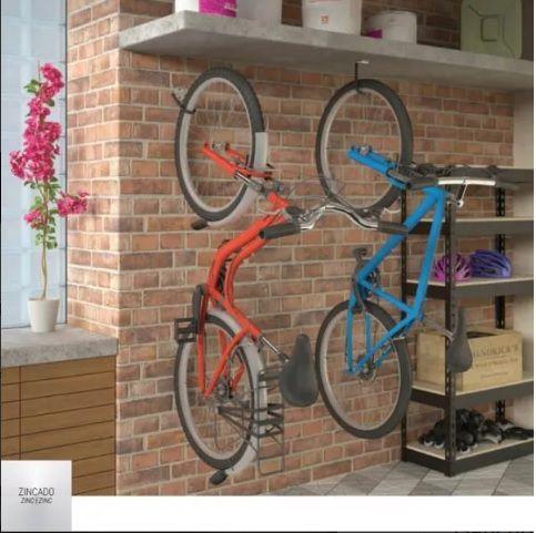 GPB 18X1 Gancho 2 em 1 para bicicleta. Pode ser instalado na parede ou no teto
