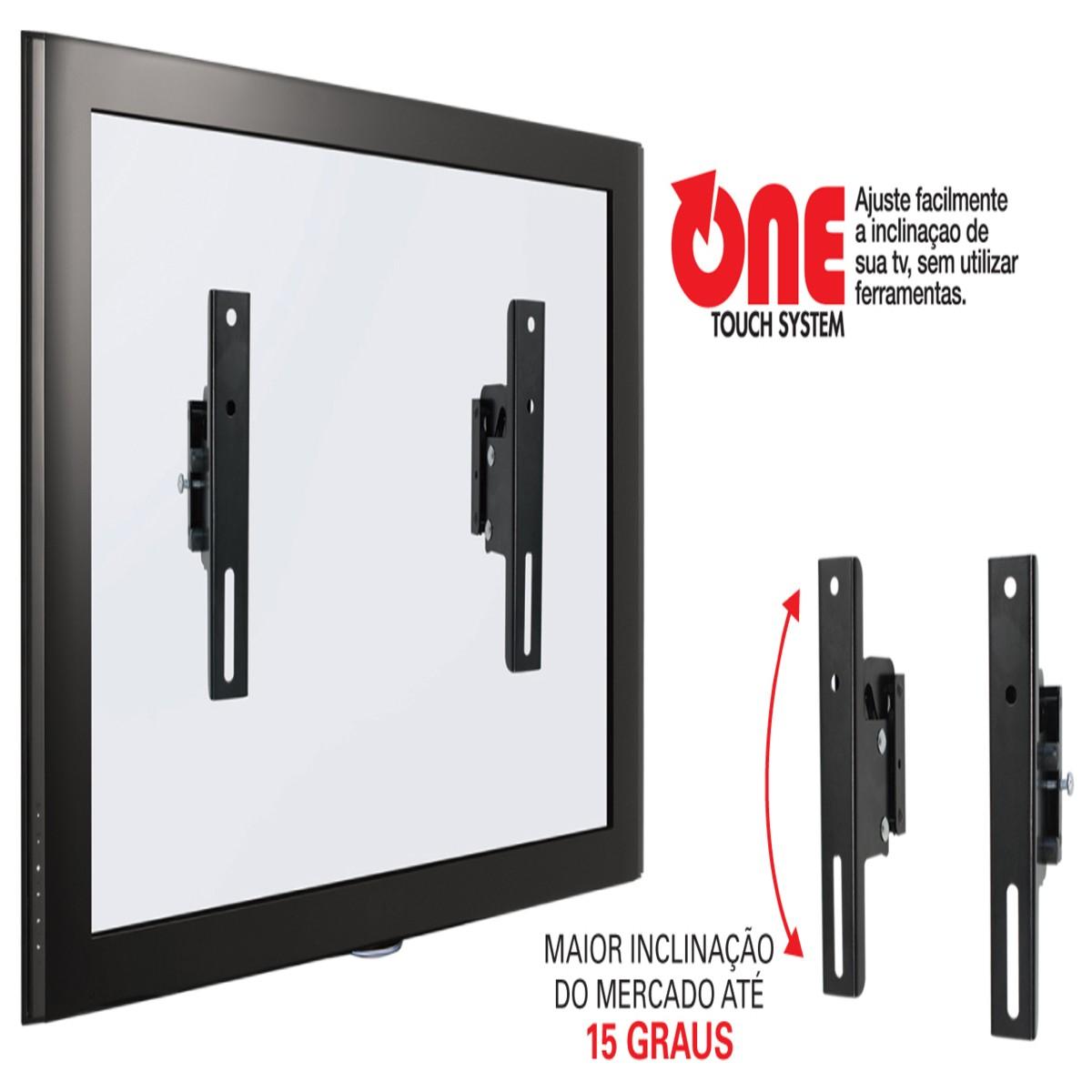 """INFINIT PLUS Suporte com Inclinação para TV LCD/Plasma/LED de 14"""" a 71"""" - UNIVERSAL Cor: Preto"""