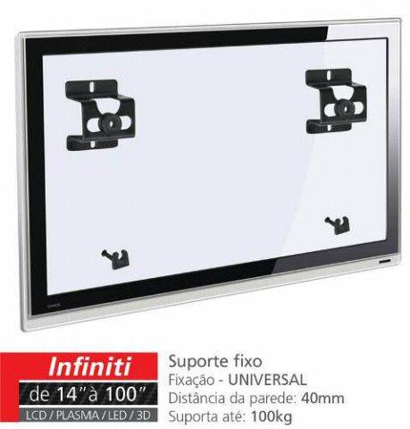 """INFINIT Suporte Fixo para TV LCD/Plasma/LED de 14"""" a 71"""" - UNIVERSAL Cor: Preto"""