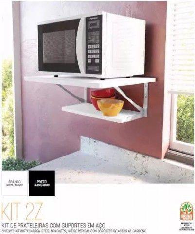 KIT 2 Z Prateleira em MDP com suporte incluso