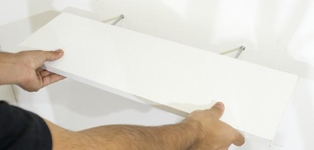 Kit com 02 Prateleiras Flutuante 20x120 cms com suporte incluso KIT-PBS-20120