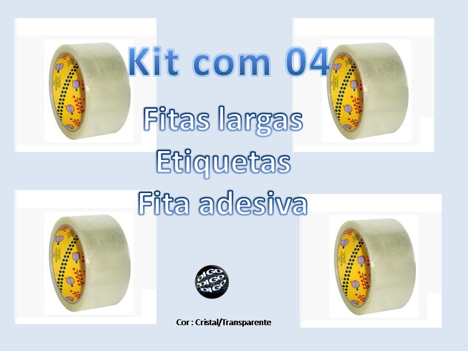 Kit com 04 Fitas Adesivas/Durex/Fita larga 45 mm x 40 metros Eurocell