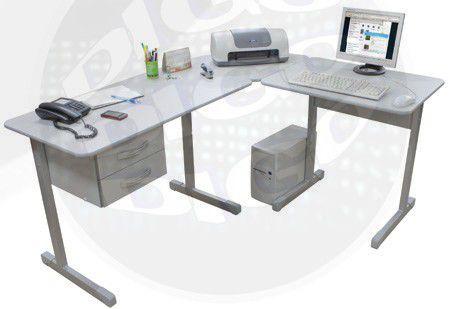 KIT OFFICE 4000 Mesa M. Secretaria com 2 gavetas