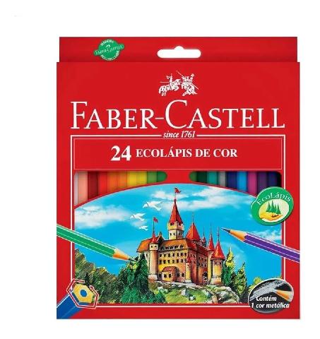 Lápis de Cor Faber Castel 24 cores