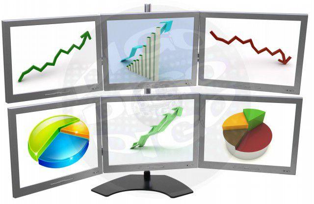 """LCD MULTI FLEX 6 M Suporte de mesa com Inclinação e Ajuste de Altura para 6 Monitores LCD/LED de 10"""""""