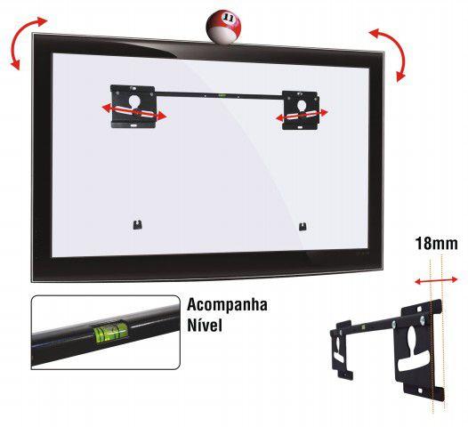 """LED 180 Suporte Fixo para TV LED de 19"""" a 40"""" (Ultra Slim)"""