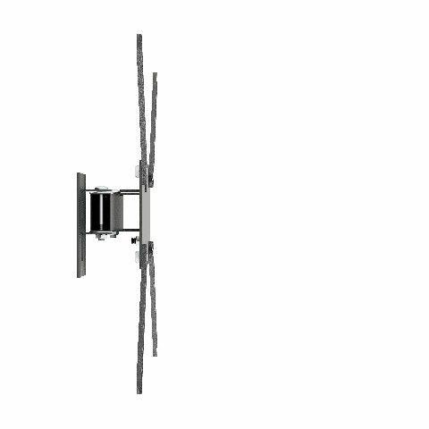 M2 Suporte Bi-iarticulado com Inclinação para Tvs De Ate 56 Pol cor Preto