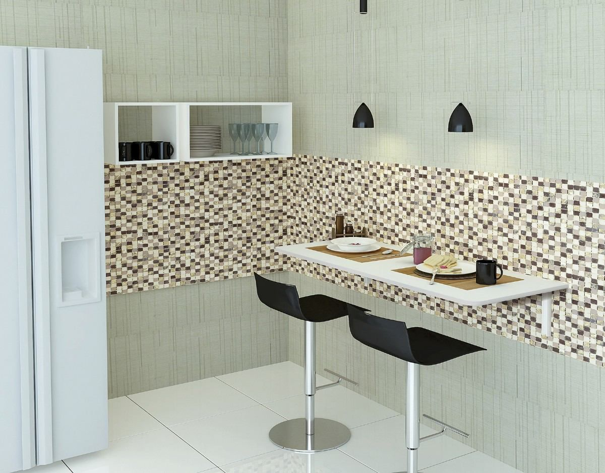 MDS 50X100 Mesa de parede dobrável com suporte incluso