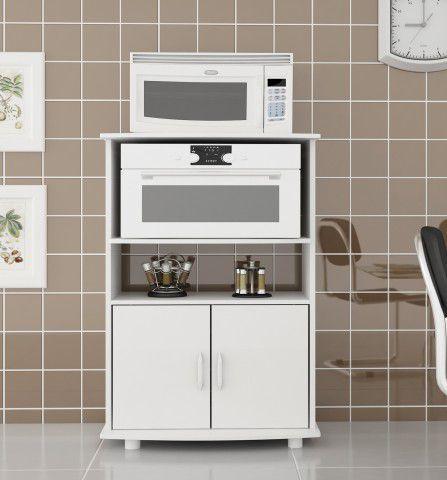 MF 100 BRA Mesa para forno e microondas Branca