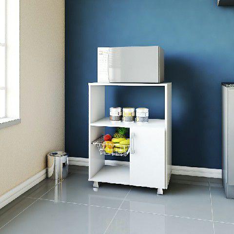 MF 600 Armário para forno de microondas com fruteira cor: Branco