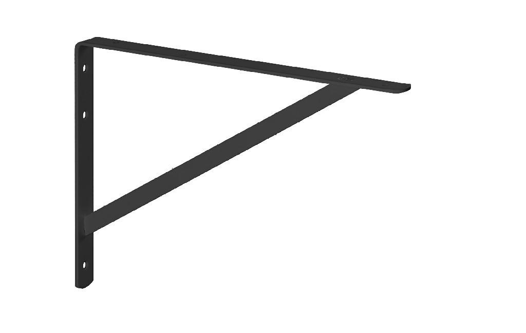 MFL 25 MÃO FRANCESA LEVE 20CM. Suporte em L (Mão Francesa) em aço carbono com 140x230mm. Espessura 1,8mm