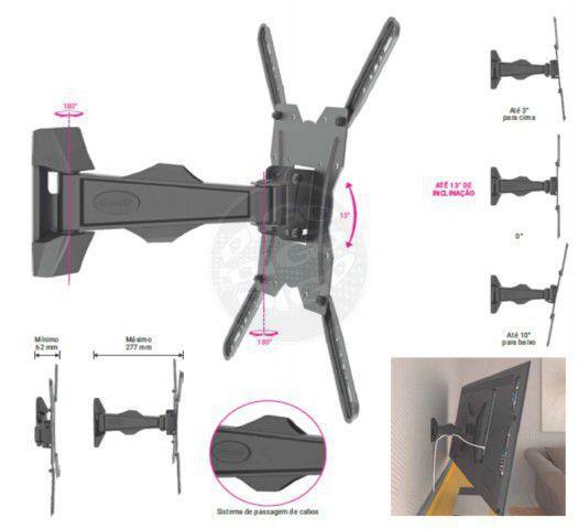 MI 400 Suporte BI-articulado estrutura em aluminio ate 56 pol