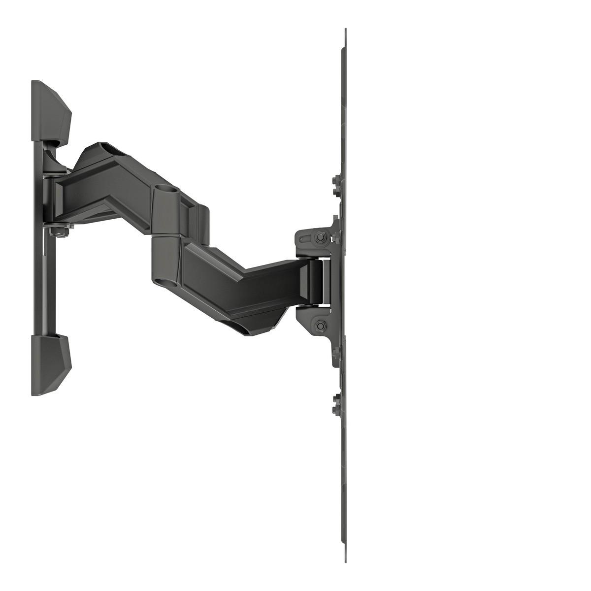 MI 5 PC Suporte tri-articulado com inclinação. Estrutura em alumínio, ate 65pol Cor: Preto