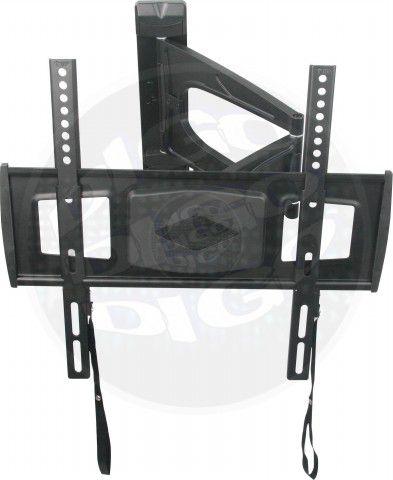 """MI 801 Suporte Articulado com Inclinação para TV LED de 26"""" a 42"""" - Preto (Ultra Slim)"""