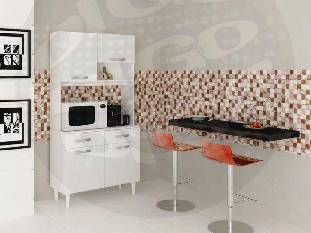 """MICHELE  Kit de Cozinha C/06 Portas e 02 Gavetas em MDP 15mm C/Pintura Verniz """"UV"""""""