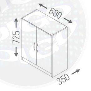"""MO 6300 Armario Baixo Multi-uso 2 Portas com Chave """"UV"""""""