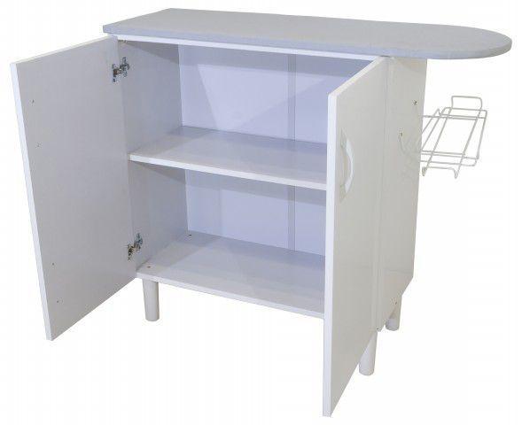 MPR 70 KIT LAVANDERIA - MÓVEL DE PASSAR ROUPA - 2 portas, suporte para ferro, pintura verniz UV Branco