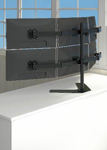 MT 6 ERGO Suporte para 06 Monitores Ate 24 Polegadas Cor: Preto