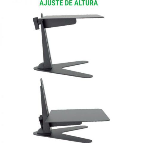 "MT BASE Suporte de mesa para Monitor LCD/LED de 10"" a 24"" com base - Preto"
