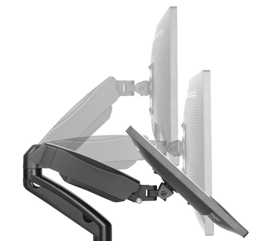 MT DUO SUPORTE TRI-articulado com pistão para monitor de 13' a 27' -preto