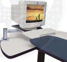 MT Flex Preto Suporte de Mesa para Monitor e Teclado
