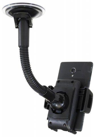 MULTI CAR Suporte Flexível para Fixação de Celulares/GPS no Parabrisa do Carro - Preto